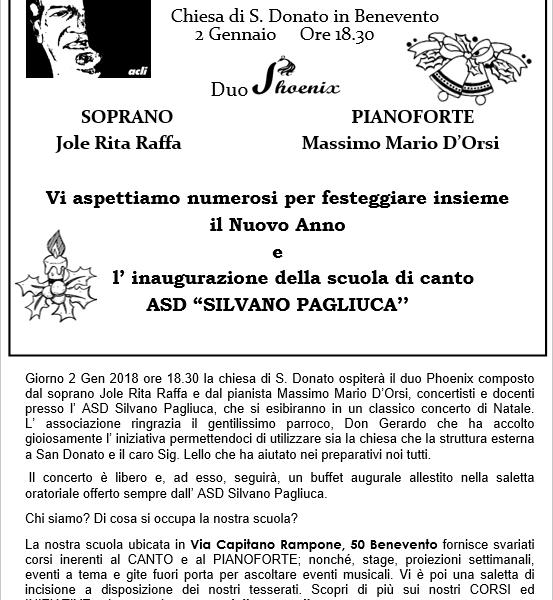 Manifesto Concerto Benevento Duo Phoenix